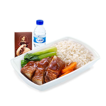 Soya Chicken Rice with Pak Chye