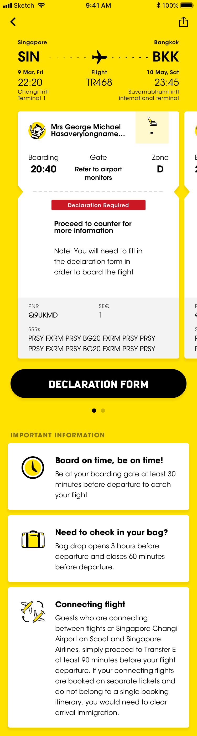 Airport Online Check In Information Scoot